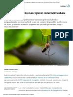 Por qué los mosquitos nos eligieron como víctimas hace miles de años _ Planeta Futuro _ EL PAÍS