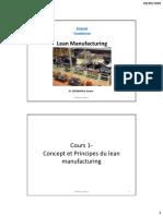 Le Concept Et Principes Du Lean Manufacturing