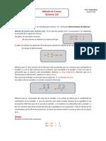 Metodo de Cramer Sistemas 2x2 Teoria