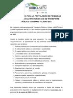 Convocatoria 2021 ponencias_CLATPU 2021