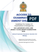 Guidelines for Conduct of Examinations in Emergencies