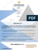ACTIVIDAD # 6 Desarrollo de los ejercicios 4.1 y 4.2  y PROBLEMA SIMULACRO TOMA DE DECISIONES CUANTITATIVAS