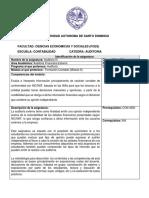 Programa por Competencia AUDITORIA III, Junio 2019