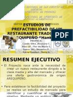 ESTUDIOS DE PREFACTIBILIDAD DE UN RESTAURANTE TRADICIONAL AREQUIPEÑO