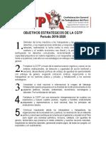 Objetivos Estratégicos de La CGTP
