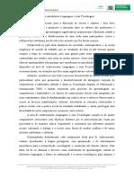 TEXTO INTRODUTORIO LINGUAGENS