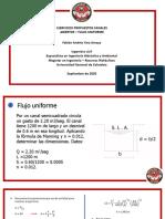 EJERCICIOS CANALES ABIERTOS - FLUJO UNIFORME (1).pdf