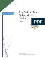 Reseña Don Quijote de la macha