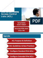 Cisco TAC Entry Training - 8 - Access Control Lists (ACL)