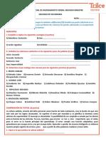 TAREA VIRTUAL DE RAZONAMIENTO VERBAL 10-10-2020