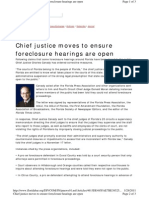 Fla Bar News Chief Justice Says Open Foreclosure Hearings
