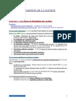 COURS MCCA DISPARTITION DE SOCIETE
