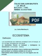 BIOLOGIA. ECOSISTEMA