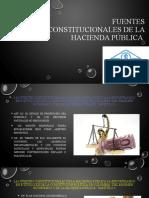 FUENTES CONSTITUCIONALES DE LA HACIENDA PÚBLICA