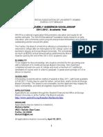 AAUW scholarship April