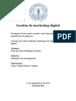 Gestion de marketing digital