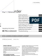 manual grabadora ICDUX200