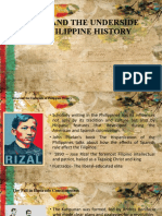 RIZAL AND THE UNDERSIDE OF PHILIPPINE HISTORY