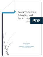 A Critique on Feature Selection Extraction and Construction