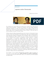 409 Miércoles 07-10-20 Mi opinión sobre Venezuela