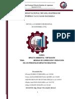 Trabajo 003- Grupo Nº6 Medidas de Corrección y Reducción de Los Principales Impactos Negativos.