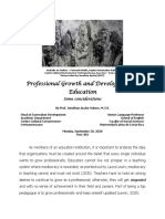 Professional Growth and Development in Education