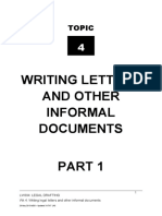LW304 Topic Guide 4 - Legal Letters Pt 1