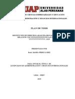 PLAN DE TESIS, MODELO REFERENCIAL ANNII