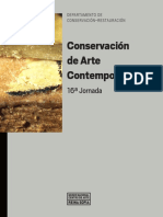 Conservación de Arte Contemporáneo, 16a Jornada