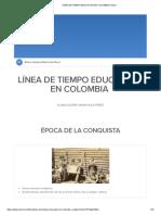 LÍNEA DE TIEMPO EDUCACIÓN EN COLOMBIA _ Sutori