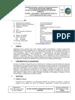 Silabo Analisis y Tratamineto de la Contaminacion del Agual