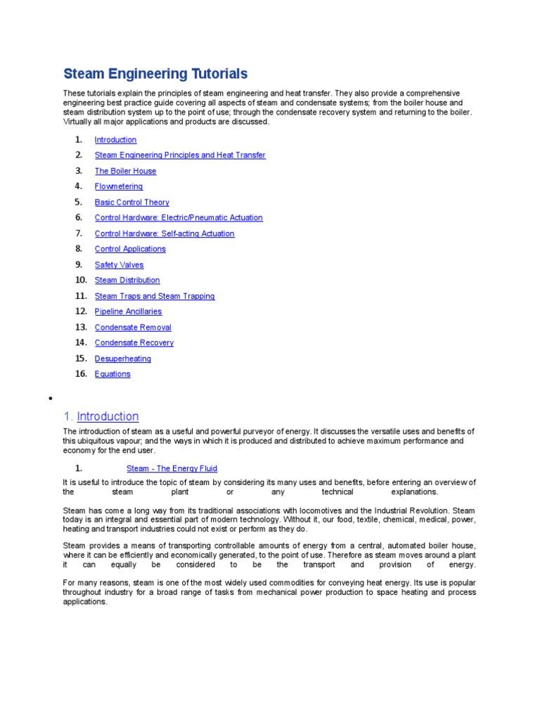 Steam Engineering Tutorials Book | Steam Engine | Boiler