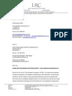 2009 11 30 Letter to Cape Winelands Municipality
