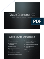 Deep Value Investing Themes by Prof. Sanjay Bakshi