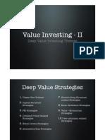 Deep Value Investing Themes by Prof. Sanjay Bakshi