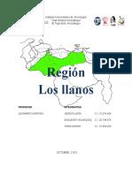 región los llanos