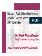 Fast-track Physiotherapy (Presentation)