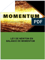 Ley de Newton en transferencia de momentum