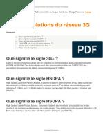 3G Evolutions Du Reseau 3G