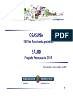 2019 Dpto Salud Presupuesto