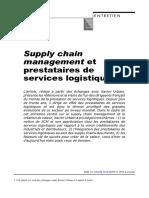 Supply Chain Management Et Prestataires de Services Logistiques.