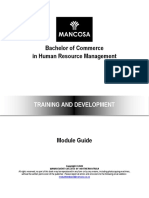 BCom HRM - Training and Development (1)