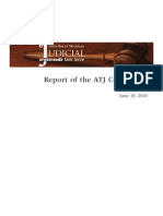 State Bar of Michigan Judicial Crossroads Task Force Report of the Access To Justice (ATJ) Committee 2011