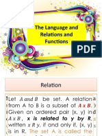 The Language and Relations and   Functions