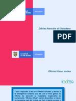 PRESENTACIÓN - OFICINA VIRTUAL INVIMA - OAC -2020