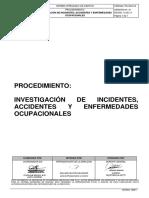 PD-SG.012 PROCEDIMIENTO INVESTIGACION DE ACCIDENTES - Ver 01
