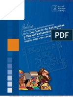 Bolivia en La Senda de La Implementacion de La Lmad