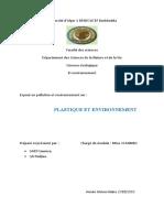 Plastique et environnement