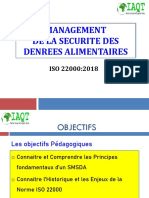 FORMATION ISO 22000  EXIGENCES  IAQT-ING QSE 2018