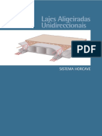 LAJES ALIGEIRADAS UNIDIRECCIONAIS